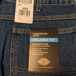 Men's relaxed fit carpenter jeans 34w x 32l